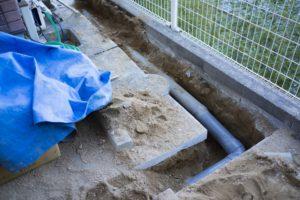 静岡市の下水道切替工事